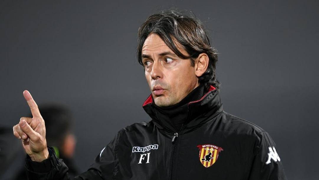 Filippo Inzaghi, allenatore del Benevento. Lapresse